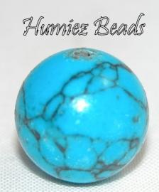 02426 Natuursteen turquoise (Howliet) Blauw 12mm 3 stuks