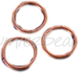 04098 Ringetje Koperkleurig (Nikkelvrij) 6mmx0,7mm ±100 stuks
