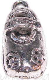 01030 Bedel schoen Antiek zilver 20mmx9mm