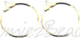 04060 Creolen voor aan oorbel Goudkleurig (Nikkelvrij) 25mm 3 paar