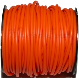 R-4008 Kautschukband hohl Orange 4mm; loch 1,5mm 1 meter