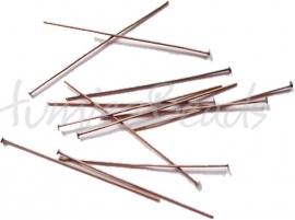 01868 Nietstifte Kupferfarbe (Nickelfrei) 50mmx0,7mm ±60 stück