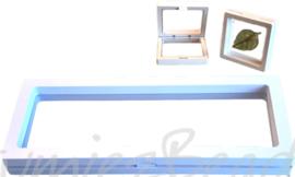 D-0002 Decoratie doosje met folieWit23cmx9cmx3cm 1 stuks