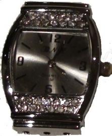 01410 Horloge bling Metaalkleurig/Chrystal  1 stuks