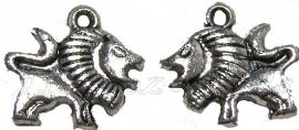 01970 Metallook bedel leeuw Antiek zilver 15mmx16mm