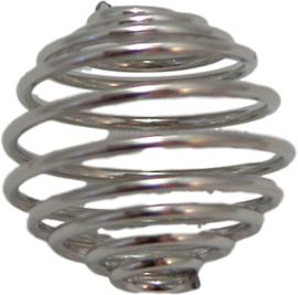 01687 Metalenkraal Spiraal Zilverkleurig 14mmx15mm 3 stuks