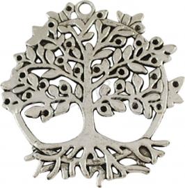 03840 Hanger tree of life Antiek zilver (Nickel vrij) 50mmx46mm 1 stuks