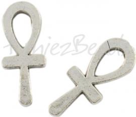 01886 Bedel Ankh Antiek zilver (Nickel vrij) 17mmx7mm 11 stuks