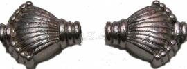 00735 Spacer waaier Antiek zilver (Nikkel vrij) 11mmx9mmx5mm; 1mm 11 stuks