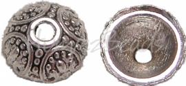 01284 Kralenkap poort Antiek zilver (nikkelvrij) 4mmx10mm 11 stuks