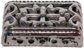01049 Verdeler bloemornaat Antiek zilver 3 stuks