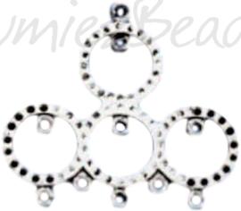 04197 Verdeler ringen Antiek zilver (Nikkelvrij) 45mmx50mmx1,5mm; oog 2mm 2 stuks