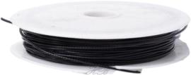 S-3102 Staaldraad /spangdraad Zwart 1mm; ±8 meter 1 rol