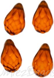 04338 Glaskraal druppel Oranje 4 stuks