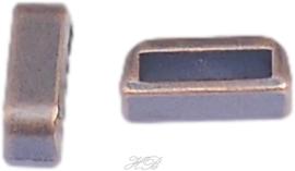 02994 Leerschuiver  Koperkleurig (Nikkelvrij) 4x13x5mm; gat 2,5mm 4 stuks