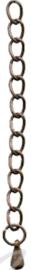 01922 Verlengketting met druppel Koperkleurig (Nikkelvrij) 65mmx3mm 5 stuks