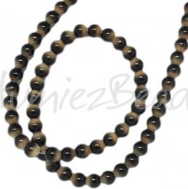 01137 Glaskraal streng (±25cm) Zwart/grijs 12mm 1 streng