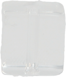 02004 Glaskraal vierkant Chrystal 10mmx10mm 11 stuks