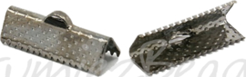 02460 Bandklem Zwart (Nickel vrij) 6 stuks