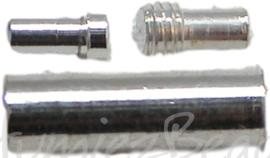 01474 Draaislot voor spang Zilverkleurig 12mmx4mm 3 stuks
