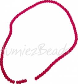 03477 Glaskraal streng ±40cm Jelly Rood 4mm 1 streng