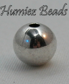 02247 Metallook kraal glad rond Antiek zilver 8mm 30 stuks
