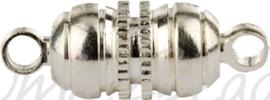 01227 Magneetslot Metaalkleurig (Nikkelvrij) 16mmx5mm 3 stuks