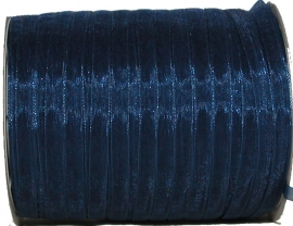 ORG-006 Organzalint Blauw 6mm 7 meter