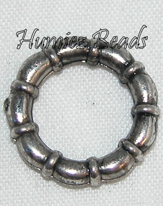 02918 Metallook ring boeiring Antiek zilver (Nickel vrij) 15mm