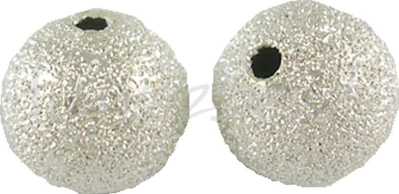 02523 Stardust kraal Zilverkleurig 6mm 15 stuks