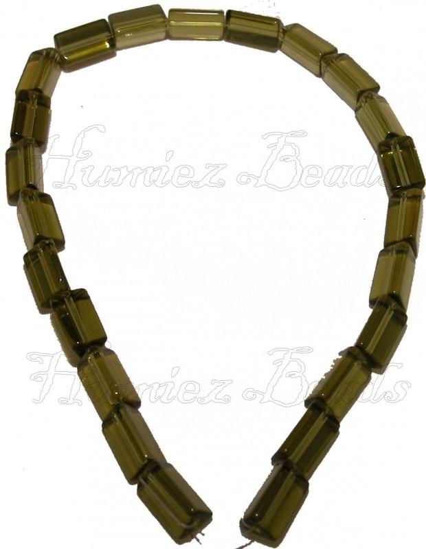 01815 Glaskraal streng (±30cm) Groen 15mmx9mm 1 stuks