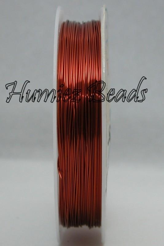 C-0050 Koperdraad 2,5meter Bruin 1,0mm