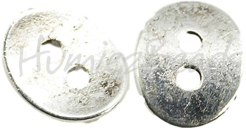 01127 Metallperle knoop Antiksilber (Nickelfrei) 14mmx11mmx1mm; loch 2mm 6 stück