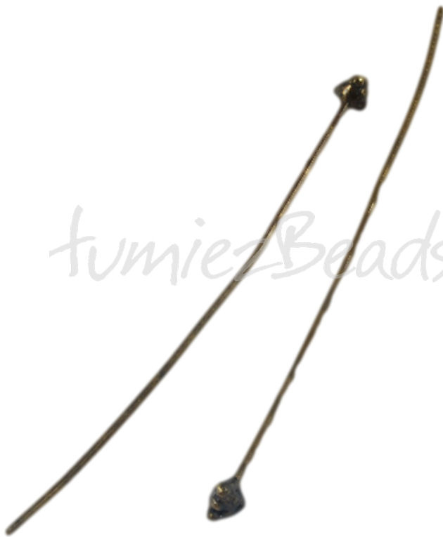 01505 Nietstift fancy Antiek brons (Nikkelvrij) 52mmx3mmx0,8mm 6 stuks