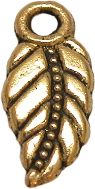 01797 Bedel blad Antiek goud (nikkelvrij) 17mm 6 stuks