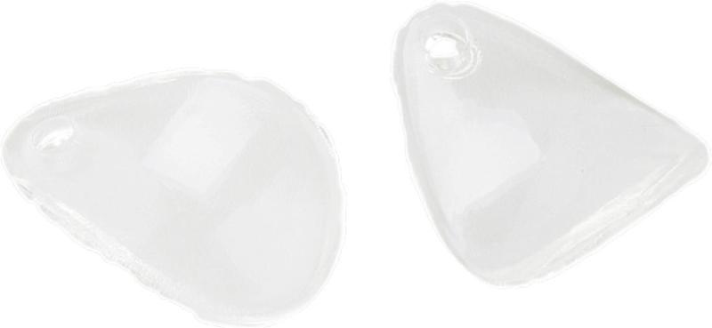 04505 Bedel acryl Blad Transparant 17,5mmx13mmx3mm; gat 2mm 15 stuks