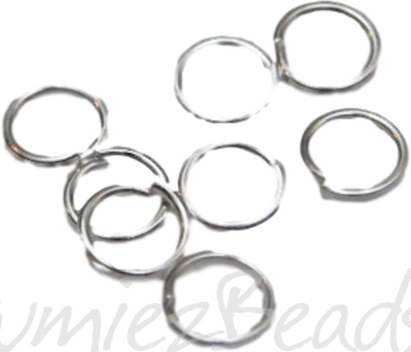 00788 Ringetjes Zilverkleurig (nikkelvrij) 6mmx0,7mm 100 stuks