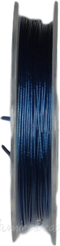 S-0004 Staaldraad 10 meter Blauw 0,45mm