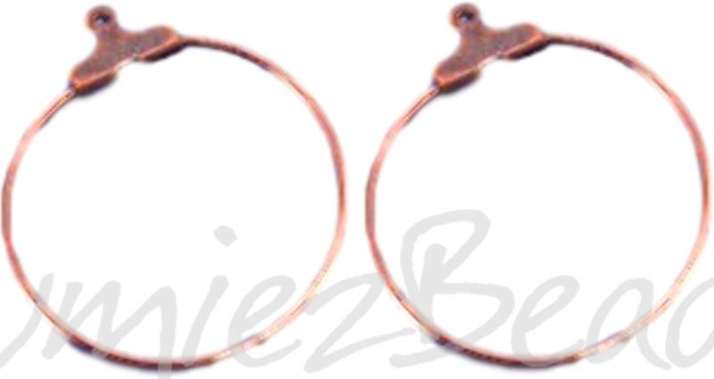 04045 Creolen voor aan oorbel Koperkleurig (Nikkelvrij) 25mm 3 paar