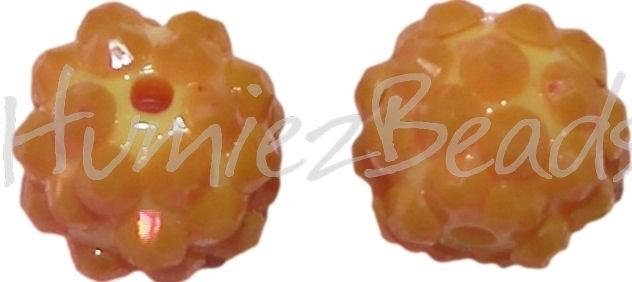 00781 resin kraal bling Geel 12mm 3 stuks