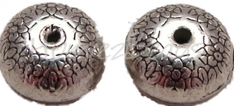 00410 Metallperle bloemetjes Antiksilber (Nickelfrei) 8mmx12mm 3 stück