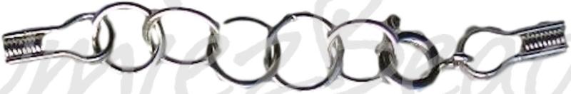 04096 Veerslotje met staaldraad-klemmetjes Metaalkleurig (Nikkelvrij) 50mm 1 stuks
