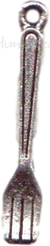 00123 Bedel vork Antiek zilver (Nickel vrij) 24mmx4mm