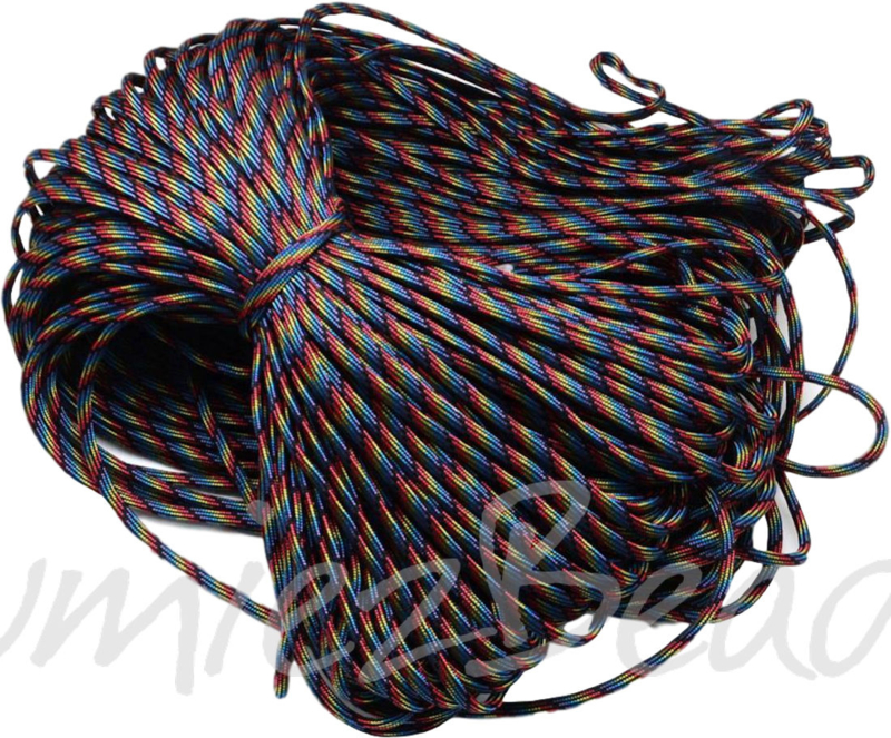 PARA-4022 Parakoord Colorful dark 4mm 6 meter