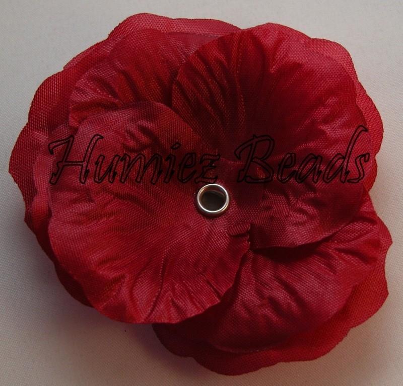Bloem donker rood 75mm