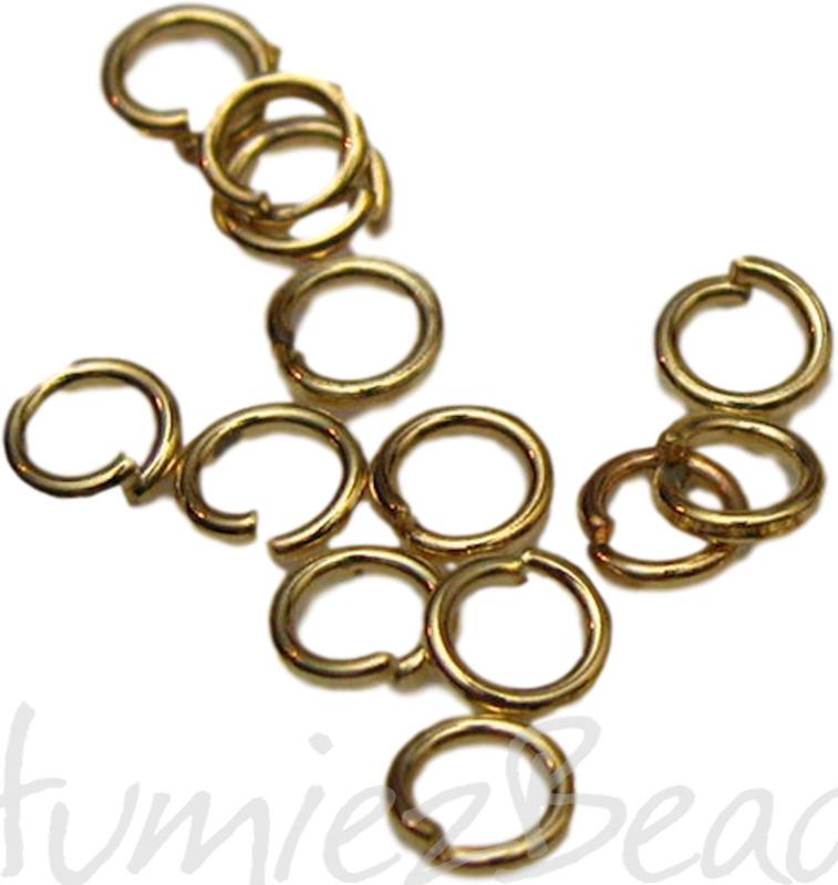 00792 Ringetjes Goudkleurig (nikkel vrij) 6mmx0,7mm ±100 stuks