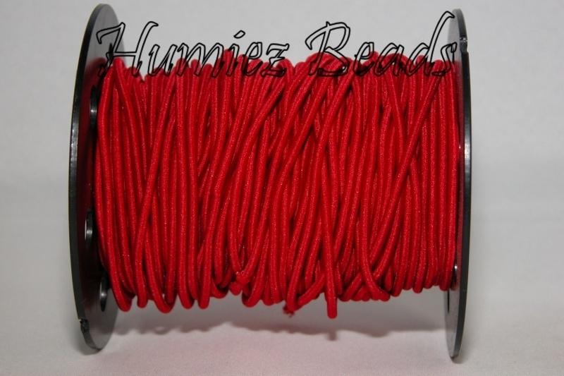 E-0021 Elastiek rood 3mm 8 meter