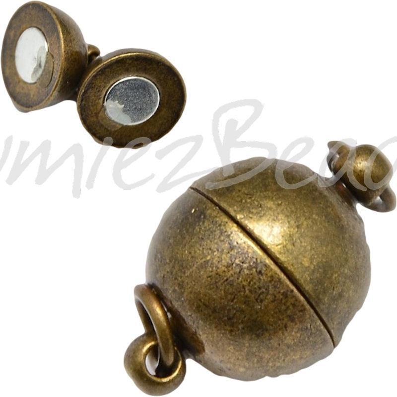 03942 Magneestslot Antiek brons (Nikkelvrij) 19mmx12mm 1 stuks