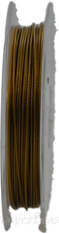 S-0009 Staaldraad 10 meter Brons 0,45mm