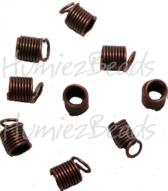 01956 Spiraalklemmetje Koperkleurig (Nickel vrij) 6mmx9mm 20 stuks